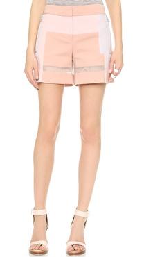 Rebecca Taylor Patchwork Shorts
