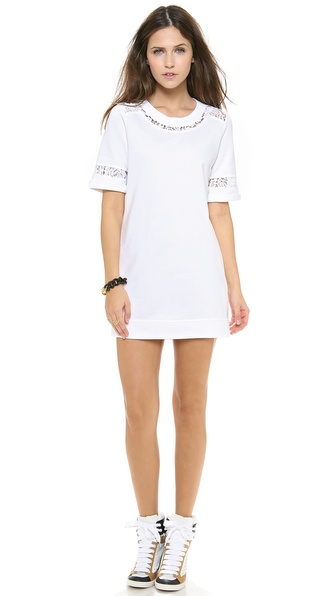 Rebecca Taylor Lace Sweatshirt Dress