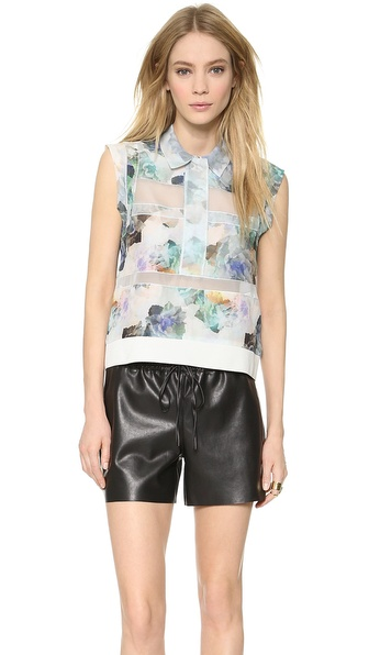 Rebecca Taylor Enchanted Gardens Collar Top
