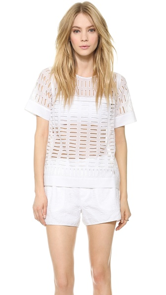Rebecca Taylor Voile Eyelet Top