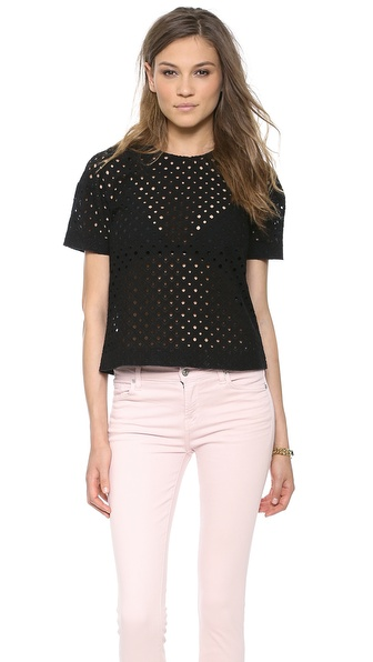 Rebecca Taylor Diamond Eyelet Top