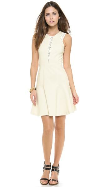 Rebecca Taylor Lace & Ponte Dress