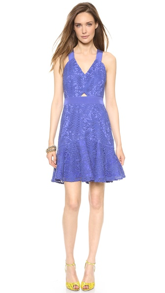 Rebecca Taylor Halter Lace Dress