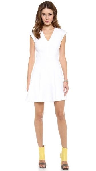 Rebecca Taylor Short Sleeve Texture Dress