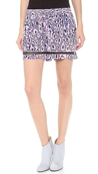 Rebecca Taylor Cheetah Ombre Shorts