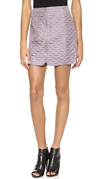 Rebecca Taylor Quilted Miniskirt