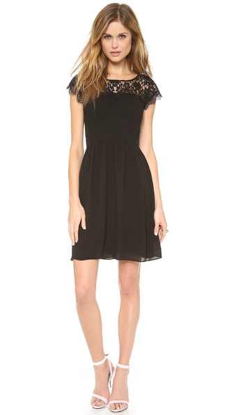 Rebecca Taylor Lace Yoke Dress