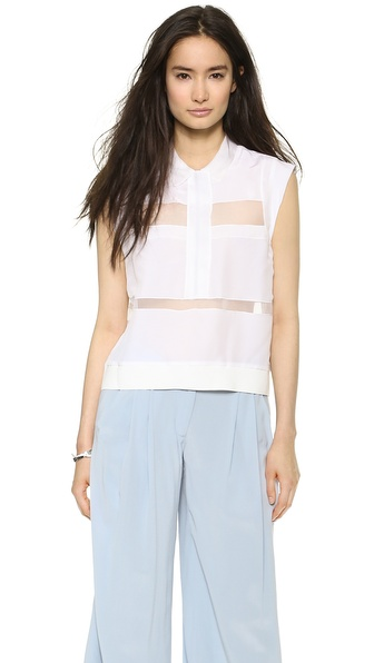 Rebecca Taylor Layered Organza Top