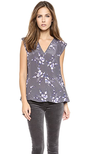 Rebecca Taylor V Neck Grapevine Top