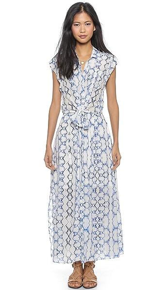 Kupi Rebecca Taylor haljinu online i raspordaja za kupiti Rebecca Taylor Tie Dye Maxi Dress - Blue Combo online