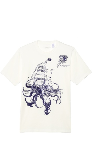 Paul Smith Red Ear Pirate Print T-Shirt
