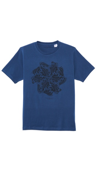 Paul Smith Red Ear Fish Print T-Shirt