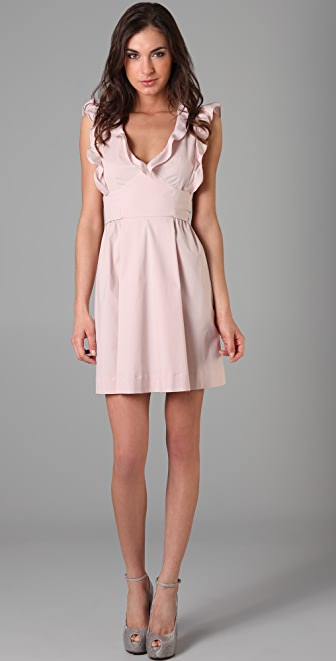 RED Valentino Ruffle Front Dress