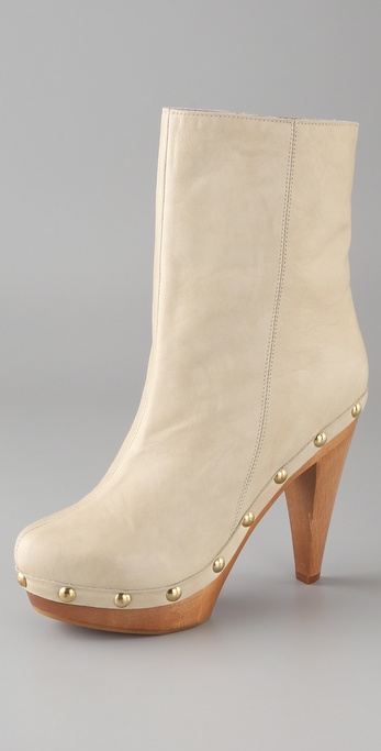 RED Valentino High Heel Clog Booties