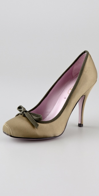 RED Valentino Satin Pumps with Bow