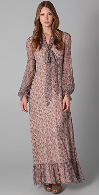 red valentino long sleeve floral maxi dress shopbop