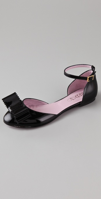 RED Valentino 2 Piece Patent Flats