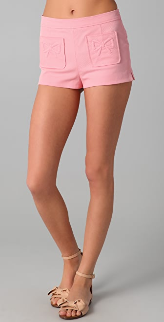 RED Valentino Shorts with Bow Pockets