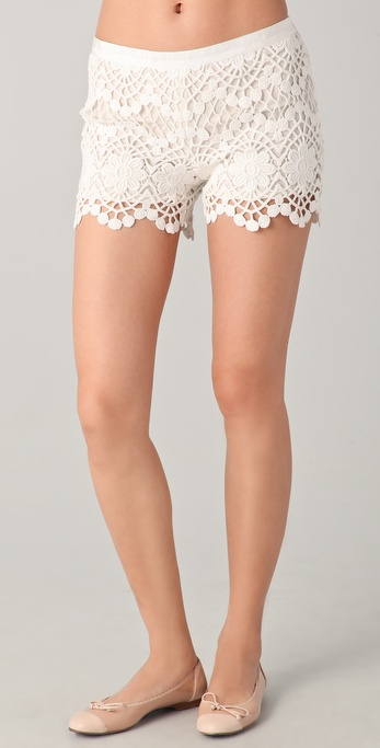 RED Valentino Crochet Shorts