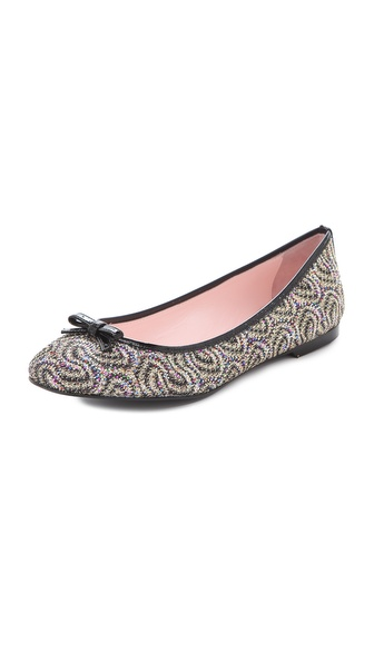 RED Valentino Glitter Skimmer Flats