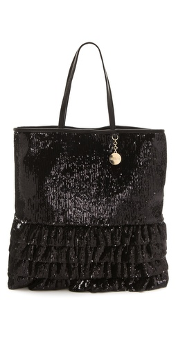 RED Valentino Sequin Ruffle Tote