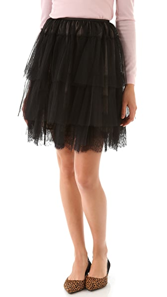 RED Valentino Tulle & Lace Skirt