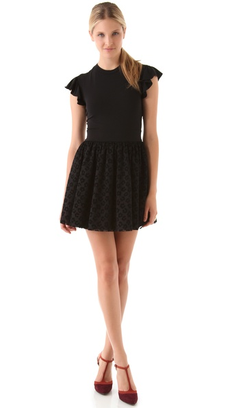 RED Valentino Flutter Sleeve Dress