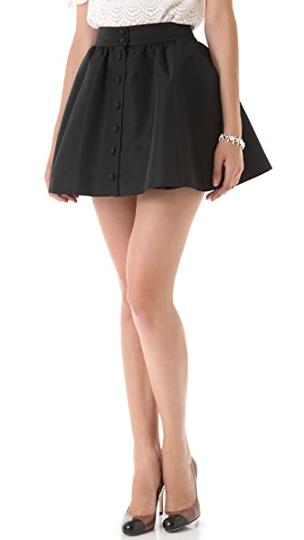 RED Valentino Faille Miniskirt