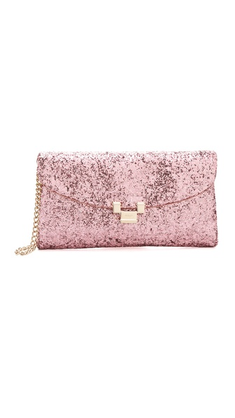 RED Valentino Glitter Wristlet Clutch