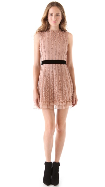 RED Valentino Sleeveless Chiffon Dress