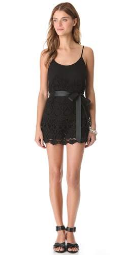 Shop RED Valentino Macrame Lace Romper and RED Valentino online - Apparel,Womens,Jumpsuits,Romper, online Store