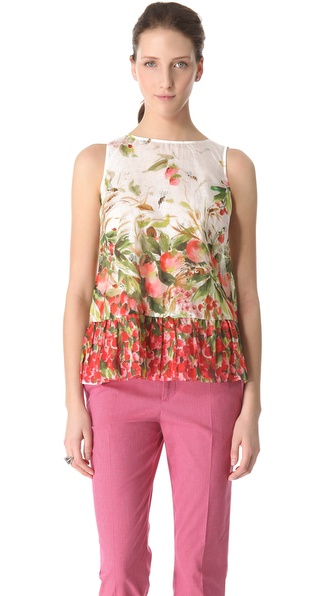 RED Valentino Strawberry Field Top