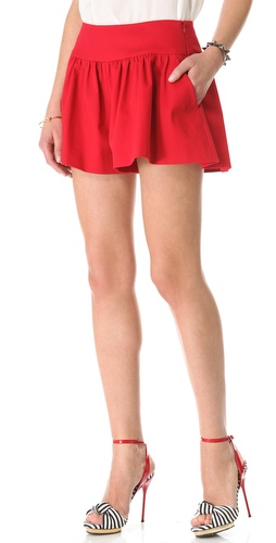 Shop RED Valentino Gabardine Shorts and RED Valentino online - Apparel,Womens,Bottoms,Shorts, online Store