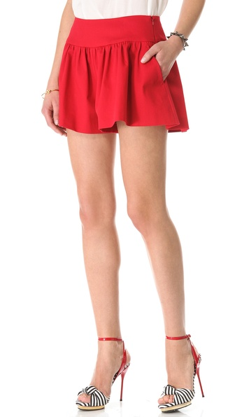 RED Valentino Gabardine Shorts