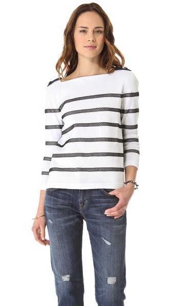 RED Valentino Striped D'Esprit Sweater