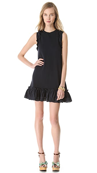RED Valentino Poplin Flounce Dress