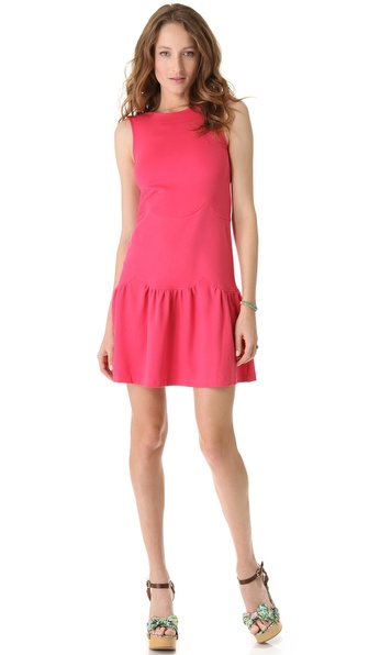 RED Valentino Scalloped Jersey Dress