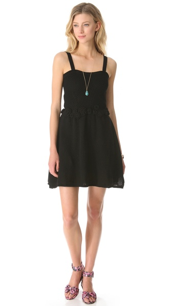 RED Valentino Embroidered Mesh Dress