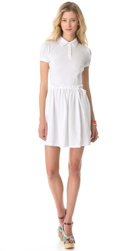 Shop RED Valentino Pique Collared Dress and RED Valentino online - Apparel, Womens, Dresses, Day,  online Store