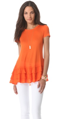 RED Valentino Ruffle Hem Tee