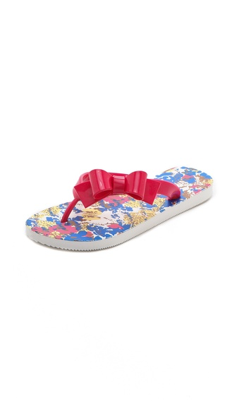 RED Valentino Bow Flip Flops
