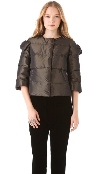 RED Valentino Bomber Puffer Jacket