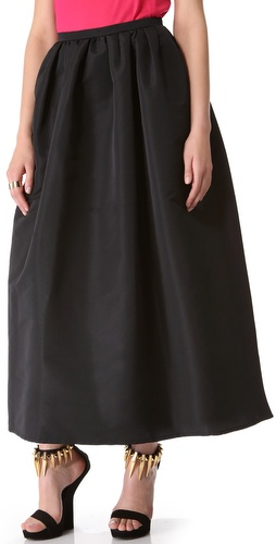 RED Valentino Faille Full Skirt