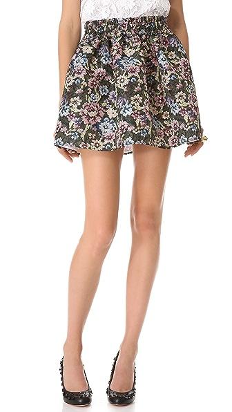 RED Valentino Gobelin Print Miniskirt