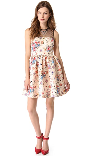 RED Valentino Polka Dot Flower Dress