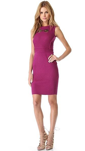 RED Valentino Merino Lace & Bow Dress