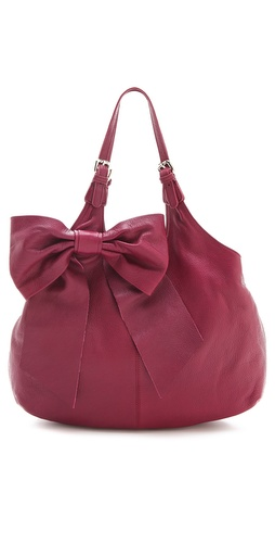 RED Valentino Leather Bow Hobo at Shopbop / East Dane