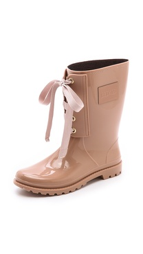 RED Valentino Lace Up Rain Boots