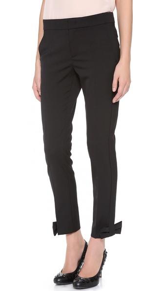 RED Valentino Bow Cuff Slim Pants