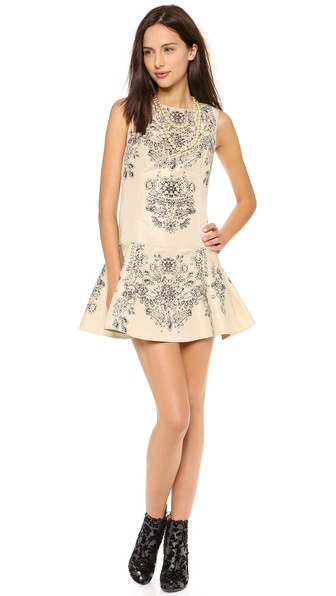 RED Valentino Drop Waist Sleeveless Dress